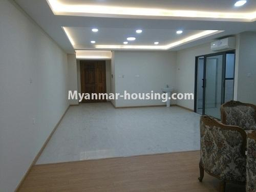 Myanmar real estate - for sale property - No.3346 - Grand Myakanthar Condominium room for sale in Hlaing! - another view of living room
