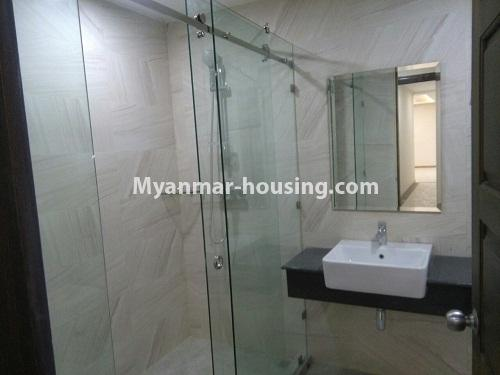 Myanmar real estate - for sale property - No.3346 - Grand Myakanthar Condominium room for sale in Hlaing! - bathroom view
