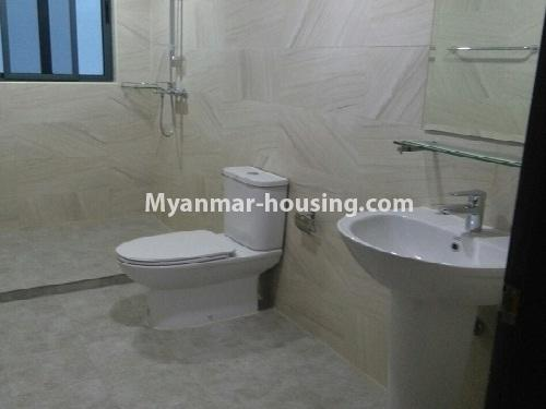 Myanmar real estate - for sale property - No.3346 - Grand Myakanthar Condominium room for sale in Hlaing! - another bathroom view