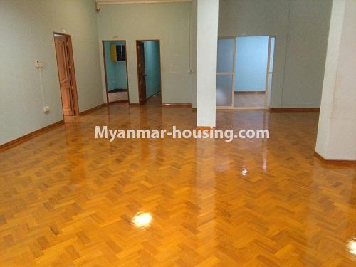 Myanmar real estate - for sale property - No.3347 - Large University Yeik Mon Condo room for sale in Bahan! - anothr view of living room area