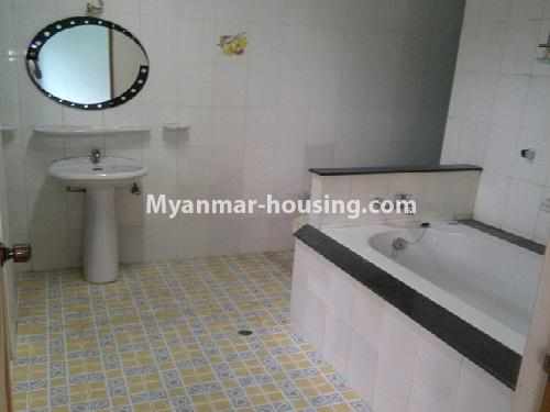 Myanmar real estate - for sale property - No.3347 - Large University Yeik Mon Condo room for sale in Bahan! - bathroom 1
