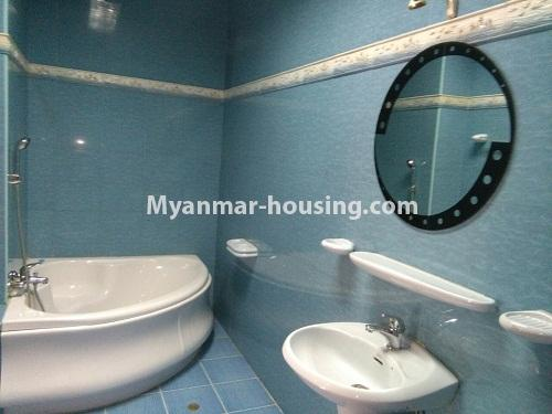 Myanmar real estate - for sale property - No.3347 - Large University Yeik Mon Condo room for sale in Bahan! - bathroom 2