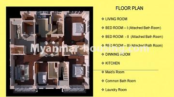 Myanmar real estate - for sale property - No.3349 - Newly Sein Lae May Yeik Thar Condominium Rooms for sale in Yakin! - room layout view