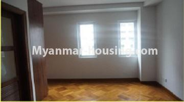 Myanmar real estate - for sale property - No.3349 - Newly Sein Lae May Yeik Thar Condominium Rooms for sale in Yakin! - another view of master bedroom 2