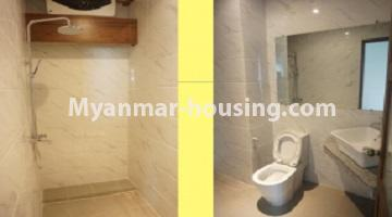 Myanmar real estate - for sale property - No.3349 - Newly Sein Lae May Yeik Thar Condominium Rooms for sale in Yakin! - master bedroom bathroom