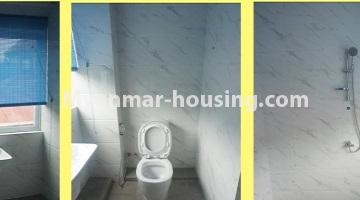 Myanmar real estate - for sale property - No.3349 - Newly Sein Lae May Yeik Thar Condominium Rooms for sale in Yakin! - common bathroom