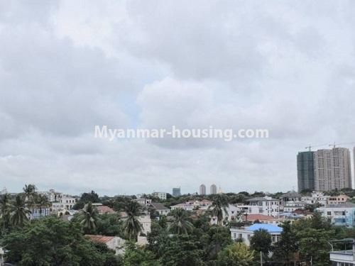 Myanmar real estate - for sale property - No.3351 - Newly Built Aung Chan Thar Condominium room for sale in Yankin! - outside view from balcony