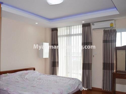 Myanmar real estate - for sale property - No.3351 - Newly Built Aung Chan Thar Condominium room for sale in Yankin! - master bedroom view