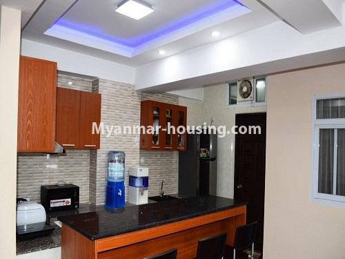 Myanmar real estate - for sale property - No.3351 - Newly Built Aung Chan Thar Condominium room for sale in Yankin! - kitchen view