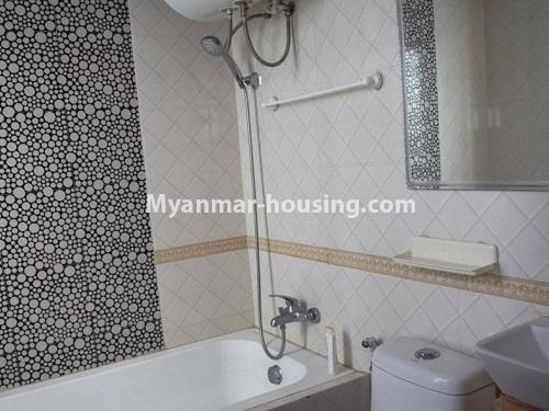 Myanmar real estate - for sale property - No.3351 - Newly Built Aung Chan Thar Condominium room for sale in Yankin! - bathroom view