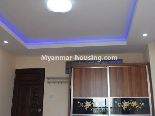 Myanmar real estate - for sale property - No.3351 - Newly Built Aung Chan Thar Condominium room for sale in Yankin! - main entrance door view