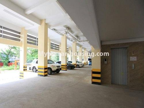 Myanmar real estate - for sale property - No.3351 - Newly Built Aung Chan Thar Condominium room for sale in Yankin! - car parking view