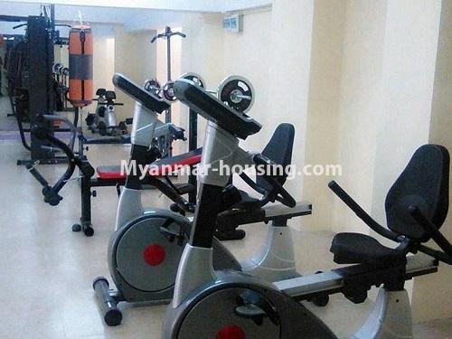 Myanmar real estate - for sale property - No.3351 - Newly Built Aung Chan Thar Condominium room for sale in Yankin! - gym view