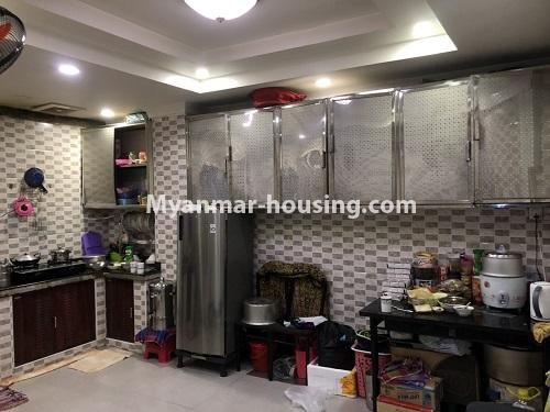 ミャンマー不動産 - 売り物件 - No.3353 - First Floor Condominium Room for Sale in Mingalar Taung Nyunt! - kitchen view