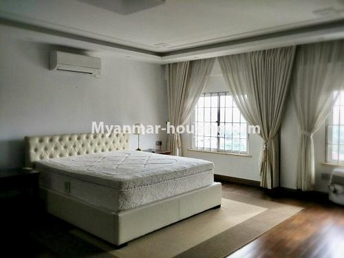 Myanmar real estate - for sale property - No.3355 - Duplex Golden Rose Condominium Penthouse for sale in Ahlone! - master bedroom view