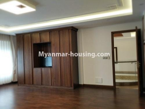 Myanmar real estate - for sale property - No.3355 - Duplex Golden Rose Condominium Penthouse for sale in Ahlone! - another master bedroom view