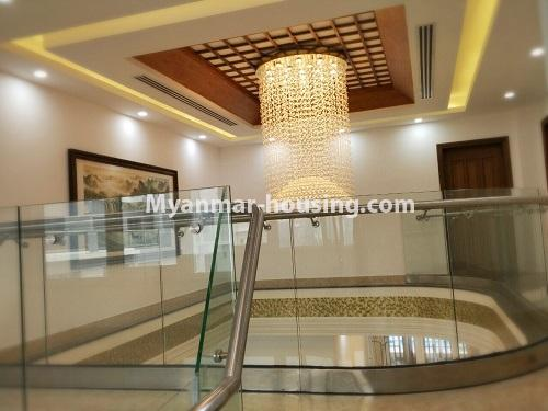 Myanmar real estate - for sale property - No.3355 - Duplex Golden Rose Condominium Penthouse for sale in Ahlone! - upstairs view