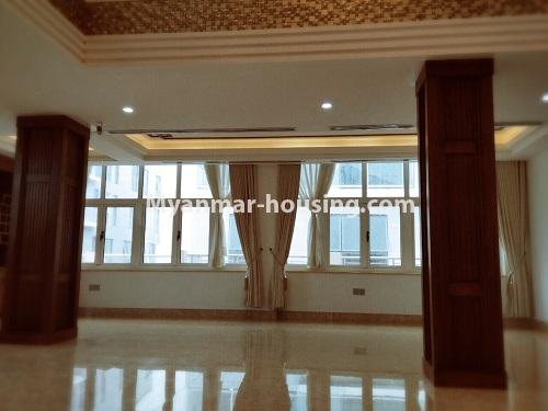 Myanmar real estate - for sale property - No.3355 - Duplex Golden Rose Condominium Penthouse for sale in Ahlone! - upstairs space view