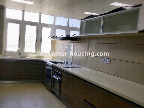 Myanmar real estate - for sale property - No.3355 - Duplex Golden Rose Condominium Penthouse for sale in Ahlone! - kitchen view