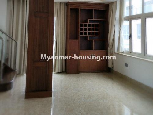 Myanmar real estate - for sale property - No.3355 - Duplex Golden Rose Condominium Penthouse for sale in Ahlone! - another space of downstairs