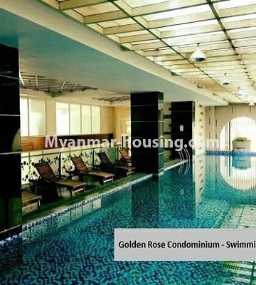 မြန်မာအိမ်ခြံမြေ - ရောင်းမည် property - No.3357 - အလုံ ရွေှနှင့်ဆီကွန်ဒိုတွင် အခန်းရောင်းရန် ရှိသည်။ - swimming pool view