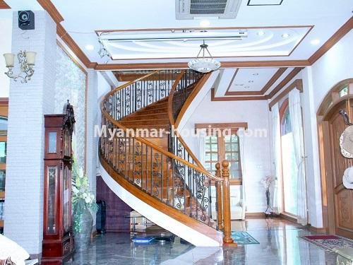 Myanmar real estate - for sale property - No.3360 - Nice Villa close to Kandawgyi Lake for sale in Bahan. - stair view