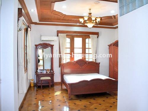 Myanmar real estate - for sale property - No.3360 - Nice Villa close to Kandawgyi Lake for sale in Bahan. - bedroom 2 view