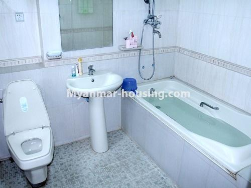 Myanmar real estate - for sale property - No.3360 - Nice Villa close to Kandawgyi Lake for sale in Bahan. - bathroom view