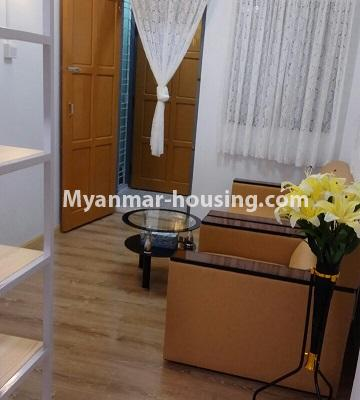 Myanmar real estate - for sale property - No.3364 - Decorated first floor apartment room for sale in Hlaing! - anothr view of living room