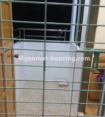 Myanmar real estate - for sale property - No.3364 - Decorated first floor apartment room for sale in Hlaing! - balcony view