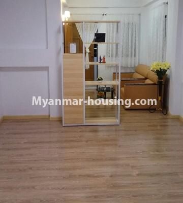 Myanmar real estate - for sale property - No.3364 - Decorated first floor apartment room for sale in Hlaing! - another view of living room space