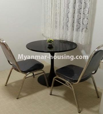 Myanmar real estate - for sale property - No.3364 - Decorated first floor apartment room for sale in Hlaing! - dining area view