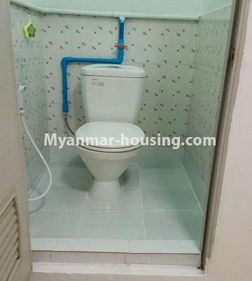 Myanmar real estate - for sale property - No.3364 - Decorated first floor apartment room for sale in Hlaing! - toilet view