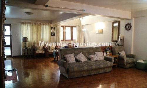 Myanmar real estate - for sale property - No.3366 - Hong Kong Type Apartment for rent in front of the Aung San Stadium, Mingalar Taung Nyunt! - living room view