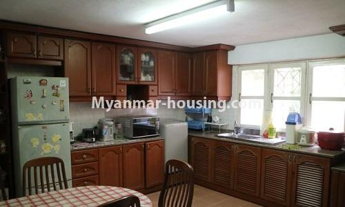 Myanmar real estate - for sale property - No.3366 - Hong Kong Type Apartment for rent in front of the Aung San Stadium, Mingalar Taung Nyunt! - kitchen view