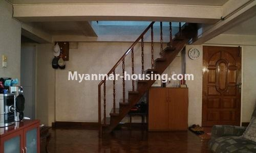Myanmar real estate - for sale property - No.3366 - Hong Kong Type Apartment for rent in front of the Aung San Stadium, Mingalar Taung Nyunt! - stair to upstairs