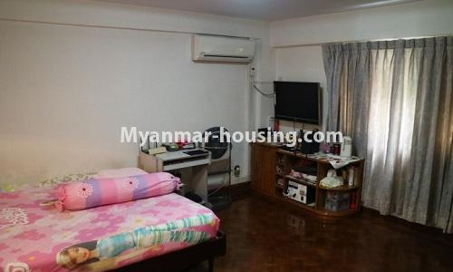 Myanmar real estate - for sale property - No.3366 - Hong Kong Type Apartment for rent in front of the Aung San Stadium, Mingalar Taung Nyunt! - bedroom view