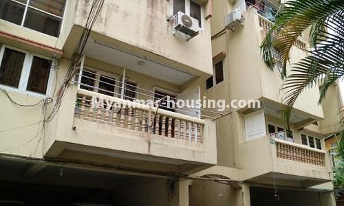 Myanmar real estate - for sale property - No.3366 - Hong Kong Type Apartment for rent in front of the Aung San Stadium, Mingalar Taung Nyunt! - buidling view