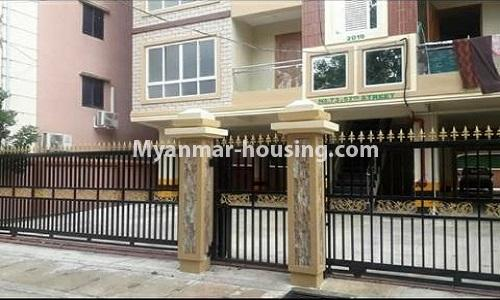 Myanmar real estate - for sale property - No.3367 - Newly built mini condominium room for sale in Hlaing! - building view