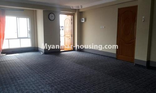 Myanmar real estate - for sale property - No.3367 - Newly built mini condominium room for sale in Hlaing! - living room view