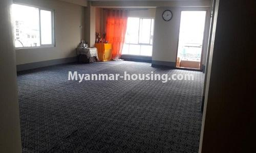 Myanmar real estate - for sale property - No.3367 - Newly built mini condominium room for sale in Hlaing! - nother view of living room