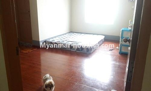 Myanmar real estate - for sale property - No.3367 - Newly built mini condominium room for sale in Hlaing! - master bddroom view