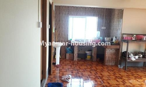 Myanmar real estate - for sale property - No.3367 - Newly built mini condominium room for sale in Hlaing! - kitchen view