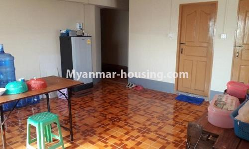 Myanmar real estate - for sale property - No.3367 - Newly built mini condominium room for sale in Hlaing! - dining area view