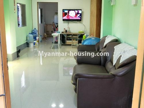 Myanmar real estate - for sale property - No.3371 - First floor apartment for sale in Thin Gan Gyun Township. - living room view