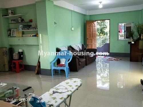 Myanmar real estate - for sale property - No.3371 - First floor apartment for sale in Thin Gan Gyun Township. - anothr view of living room