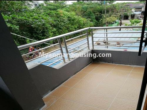 Myanmar real estate - for sale property - No.3371 - First floor apartment for sale in Thin Gan Gyun Township. - balcony view