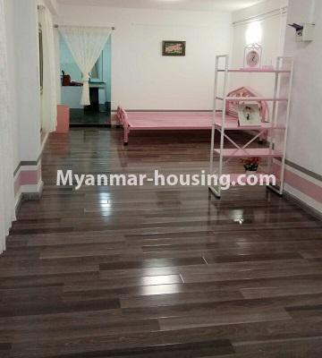 Myanmar real estate - for sale property - No.3372 - First floor glass room apartment for sale in Mayangone! - hall view
