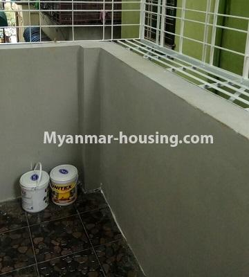 Myanmar real estate - for sale property - No.3372 - First floor glass room apartment for sale in Mayangone! - balcony view