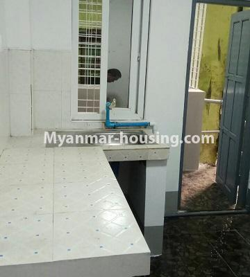 Myanmar real estate - for sale property - No.3372 - First floor glass room apartment for sale in Mayangone! - kitchen view